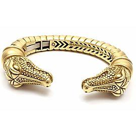 Kieselstein Cord 18k Yellow Gold Two Alligator Heads Bangle Bracelet