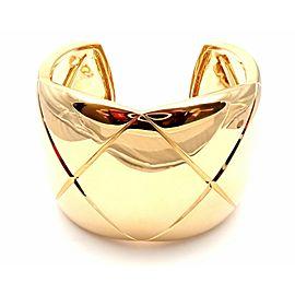 "Chanel Coco Crush 18k Yellow Gold 2"" Wide Cuff Bangle Bracelet Size S"