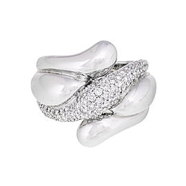 18k White Gold 0.94 Ct. Pave' Set Diamond Ring
