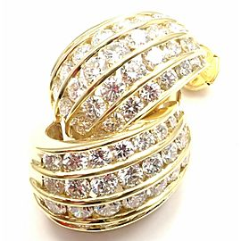 Tiffany & Co 18k Yellow Gold 6.5ct Diamond Earrings
