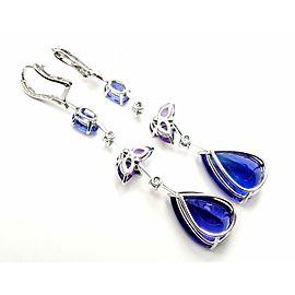 Chopard High Jewelry 18k Gold Diamond Tanzanite Amethyst Earrings