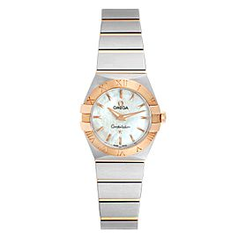 Omega Constellation MOP Steel Rose Gold Ladies Watch 123.20.24.60.05.001