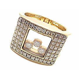 Chopard 18k Yellow Gold Happy Curves Diamond Ring