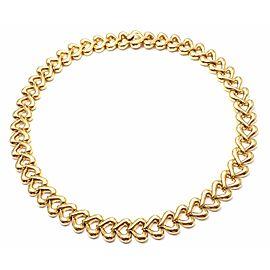 Van Cleef & Arpels 18k Yellow Gold Heart Choker Necklace
