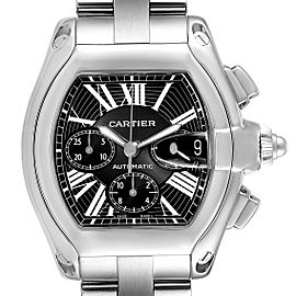 Cartier Roadster XL Chronograph Black Dial Mens Watch W62020X6 Box