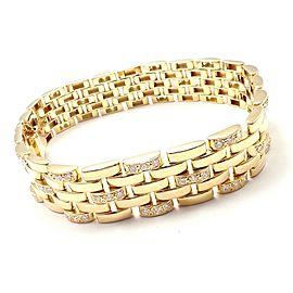 Cartier Maillon Panthere 18K Gold Diamond Five Row Link Gold Bracelet
