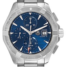 Tag Heuer Aquaracer Blue Dial Steel Mens Watch CAY2112