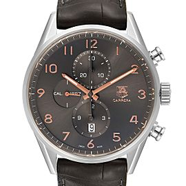 Tag Heuer Carrera 1887 Grey Dial Chronograph Mens Watch CAR2013 Box Card