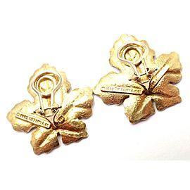 Vintage Tiffany & Co 18k Yellow Gold Leaf Earrings