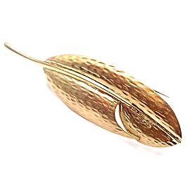 Tiffany & Co Angela Cummings 18k Yellow Gold Leaf Pin Brooch