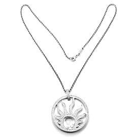 Chopard Happy Diamond Sun 18K White Gold Pendant Necklace
