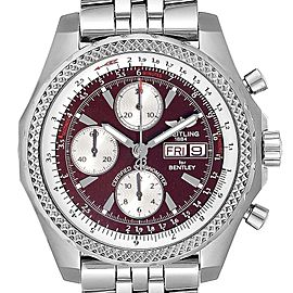 Breitling Bentley Motors GT Burgundy Dial Mens Watch A13362 Box Papers