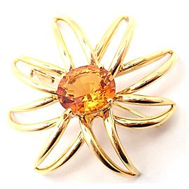 Tiffany & Co Fireworks 18k Yellow Gold Citrine Large Pin Brooch