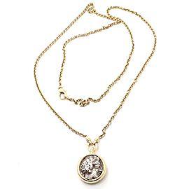 "Bvlgari Bulgari 18k Yellow Gold Ancient Coin 36"" Long Link Chain Necklace"