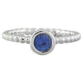 0.45 Carat Sapphire 14K White Gold Ring