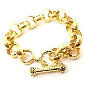 Elizabeth Locke 18k Yellow Gold Diamond Toggle Link Bracelet