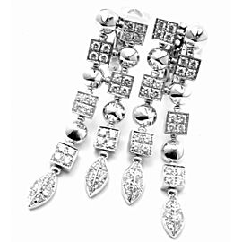 Bulgari Bvlgari Lucea 18k White Gold Diamond Long Drop Earrings