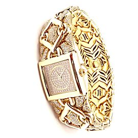 Authentic! Bulgari Bvlgari Trika 18k Yellow Gold Diamond 21mm Watch