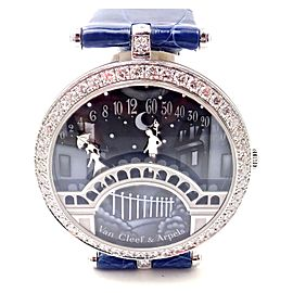 Van Cleef & Arpels Pont des Amoureux 18k White Gold Diamond Watch