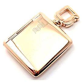 Louis Vuitton 18k Rose Gold Envelope Charm Pendant
