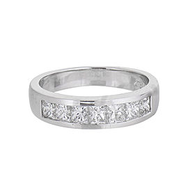 18K White Gold Diamond Channel Set Band Ring