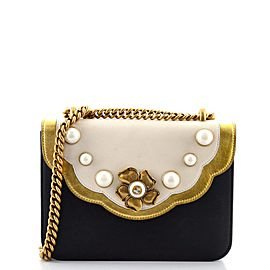 Gucci Pearly Peony Chain Shoulder Bag Leather Small