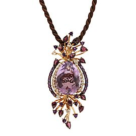 LeVian Crazy Collection 14K Rose Gold Multi-Stone Cord Pendant Necklace