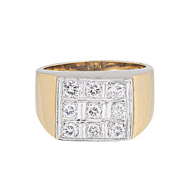 14k Yellow Gold Fancy Diamond Ring