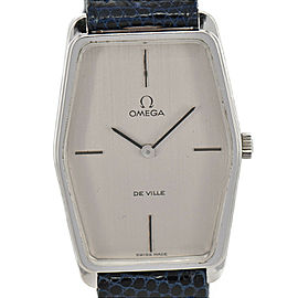 Vintage OMEGA Deville SS/Leather Cal.620 Hand-winding Men's Watch