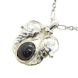 Georg Jensen Silver/Hematite Necklace