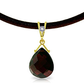 6.51 CTW 14K Solid Gold Attraction Garnet Diamond Necklace