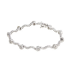 18k White Gold 2.10 Ct. Diamond Bracelet