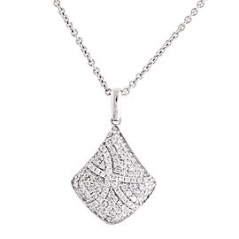 Heavenly Graceful 18k White Gold 0.52 Ct. Diamond Pendant Necklace