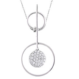 18k White Gold 0.85 Ct. Diamond Pendant