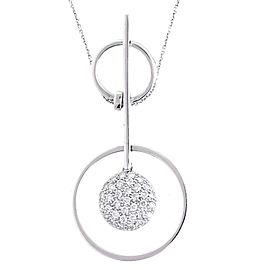 18k White Gold 0.85 Ct. Diamond Pendant