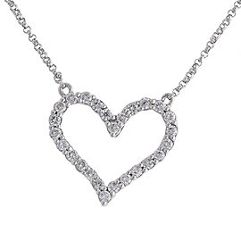 Sparkling Heart - 14k White Gold Diamond Pendant