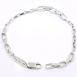 GUCCI Silver Chain Ble Rubbed T Bangle