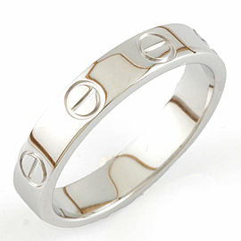 CARTIER 18K White Gold mini love Ring CHAT-919