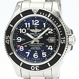 Polished BREITLING Super Ocean 2 42 Steel Automatic Mens Watch A17365