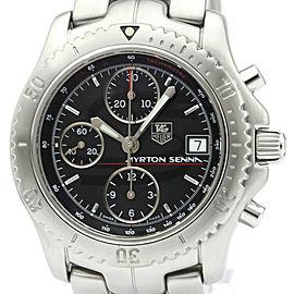 Polished TAG HEUER Link Ayrton Senna LTD Edition Steel Watch CT2114