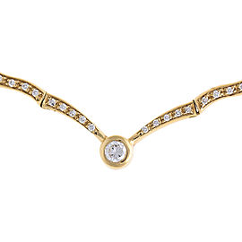 Elegant And Fashionable 18k Yellow Gold 0.80 Ct 71 Diamond Necklace