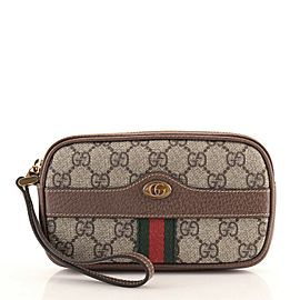Gucci Ophidia Phone Case GG Coated Canvas