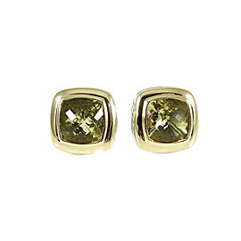 David Yurman Albion 18K Yellow Gold 925 Sterling Silver Citrine Earrings