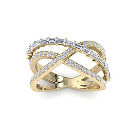 Ring In 14K Gold with 1.07ct White Diamonds