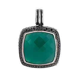 David Yurman Silver Green Onyx Diamond Albion Pendant