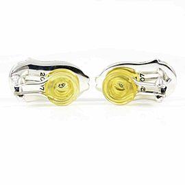 Georg Jensen Sterling Silver Garnet 2007 Bluebells Clip-on Earrings CHAT-550