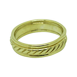 David Yurman 18K Yellow Gold Cable Wedding Band Ring