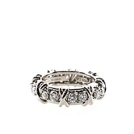 Tiffany & Co. Schlumberger Sixteen Stone Ring Platinum with Diamonds 6.5
