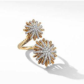 David Yurman Starburst Open Ring with Diamonds in 18K Gold