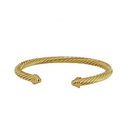 David Yurman Cable Yellow Gold Bangle Bracelet 5mm